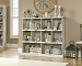 Sauder Barrister Lane Collection Wide Bookcase, White Plank Finish