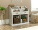 Sauder Barrister Lane Collection Divided Bookcase, White Plank Finish
